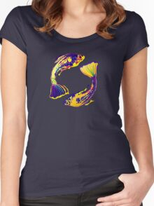 PISCIS GUPPIES ONE Women's Fitted Scoop T-Shirt