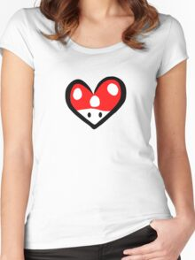For the love of Mario Women's Fitted Scoop T-Shirt