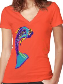 FISHY ONE Women's Fitted V-Neck T-Shirt