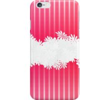 Pink Floral Ruffle iPhone Case/Skin
