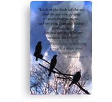 Matthew 6:26-27 Canvas Print