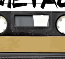 Metal Music - Cassette Tape Sticker