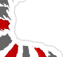 red grey dragon  (Colour Palette challenge) Sticker