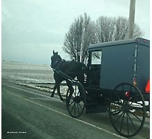 Amish Horse and Buggy Photographic Print