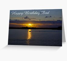 Strahan Harbour, Happy Birthday Dad Greeting Card