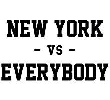 New York vs Everybody Photographic Print
