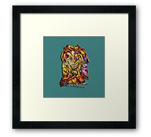 Puzzleface Blue Framed Print