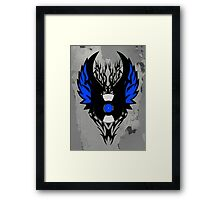 Vinyl Record - Modern Spikes Tribal and Wings Design Framed Print
