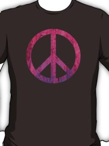 Peace Sign - Grunge Texture with Scratches T-Shirt