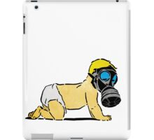 A Bright Future: Your children will pay the price - Baby with Gas Mask iPad Case/Skin