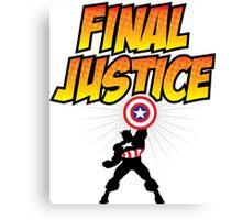Captain America - Final Justice Canvas Print
