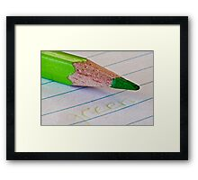 The Green Pencil Framed Print