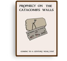 Prophecy on the Catacomb Walls Canvas Print