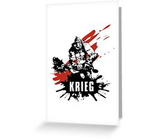 Krieg Greeting Card