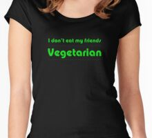 I Don't Eat My Friends - Vegetarian T-Shirt Women's Fitted Scoop T-Shirt