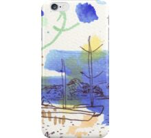 Two Kayaks on the Bay iPhone Case/Skin