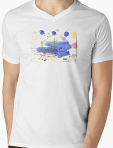 Two Kayaks on the Bay Mens V-Neck T-Shirt