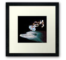 Mat Blackwell - The Pitfalls of Dolphin-riding Framed Print