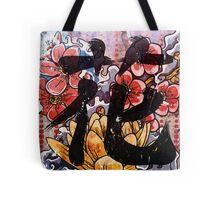 Flower Kanji Tote Bag