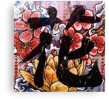 Flower Kanji Canvas Print