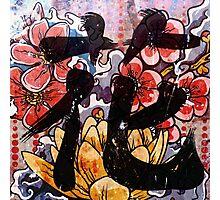 Flower Kanji Photographic Print