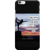 Yoga Asana is Nurturing iPhone Case/Skin