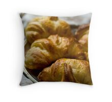 Croissants Throw Pillow