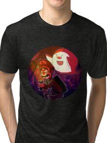 Luigi's mansion (Boo!) Tri-blend T-Shirt