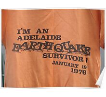 Adelaide earthquake Poster