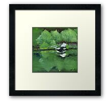 Lake at Boulder Woods Campgrounds Framed Print