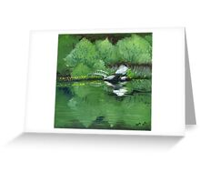 Lake at Boulder Woods Campgrounds Greeting Card