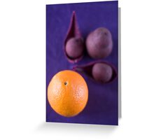 The orange Greeting Card