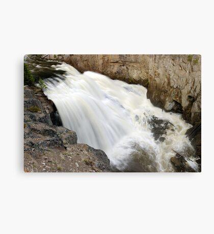 Gibbon Falls - Yellowstone - Close Up Canvas Print