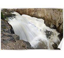 Gibbon Falls - Yellowstone - Close Up Poster