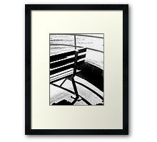 Bench and Rail Framed Print