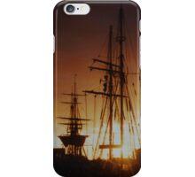 tall ship at sunset iPhone Case/Skin
