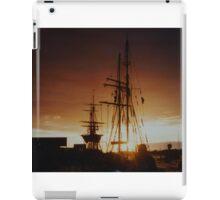 tall ship at sunset iPad Case/Skin