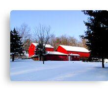 Barn 8_Eden Mill Barns in the Snow Canvas Print