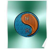 Pisces & Tiger Yang Wood Poster