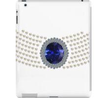 Diana's sapphire chocker necklace iPad Case/Skin