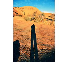 ...i cast a long shadow oft-times... Photographic Print