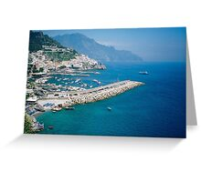 Amalfi from above Greeting Card