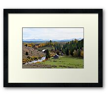 Little Farm in the Hollow Framed Print