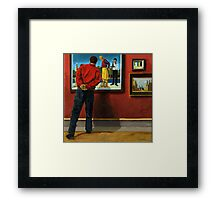 In the Red - oil painting Framed Print