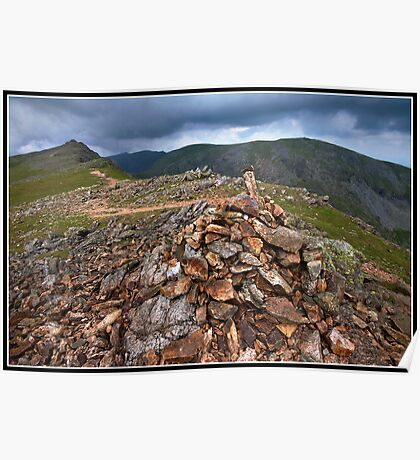 Views towards Dow Crag summit Poster