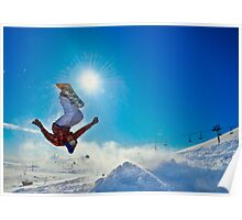 Snowboarding (Upside down) Poster