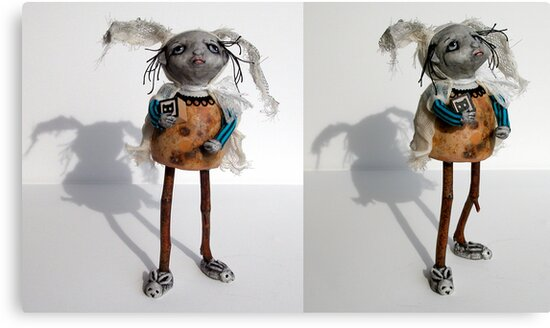 """""""B"""" is for Bunny - sculpture,art doll by LindaAppleArt"""
