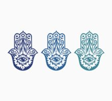 Triple Blue Hamsa by adjsr