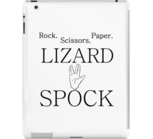 ROCK PAPER SCISSORS SPOCK iPad Case/Skin