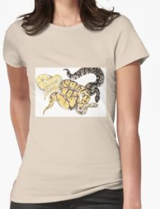 Ball Pythons Pencil Drawing Womens Fitted T-Shirt